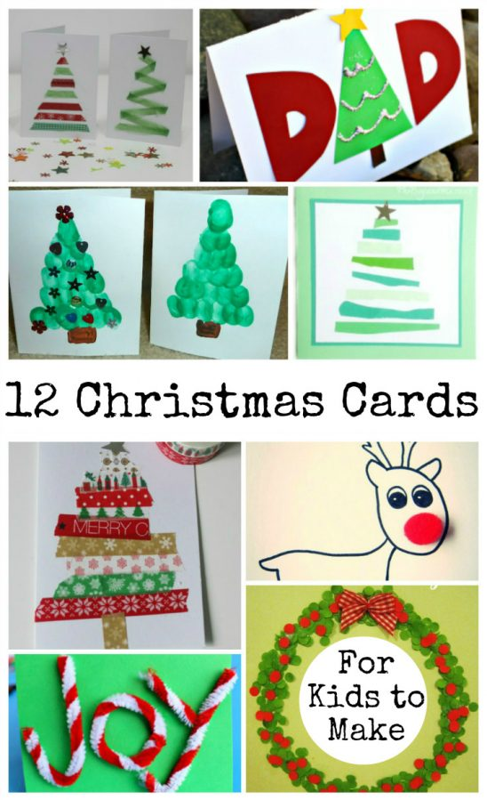 Christmas cards that kids can make and Tuesday Tutorials Week 46
