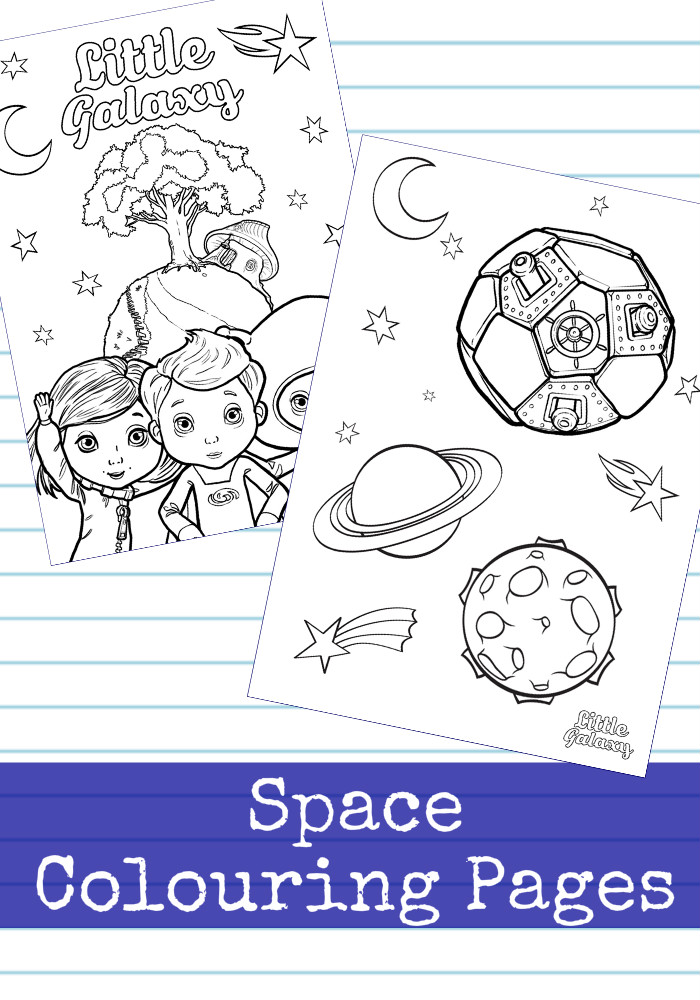 Space Colouring Pages from Little Galaxy