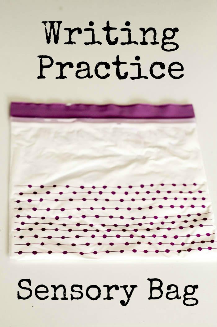 Writing Practice Sensory Bag