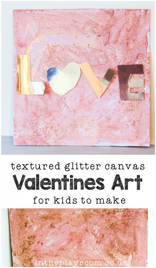 Glittery Valentines Day Process Art