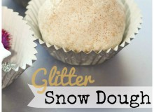 12 Months of Sensory Dough : Glittery Snow Dough