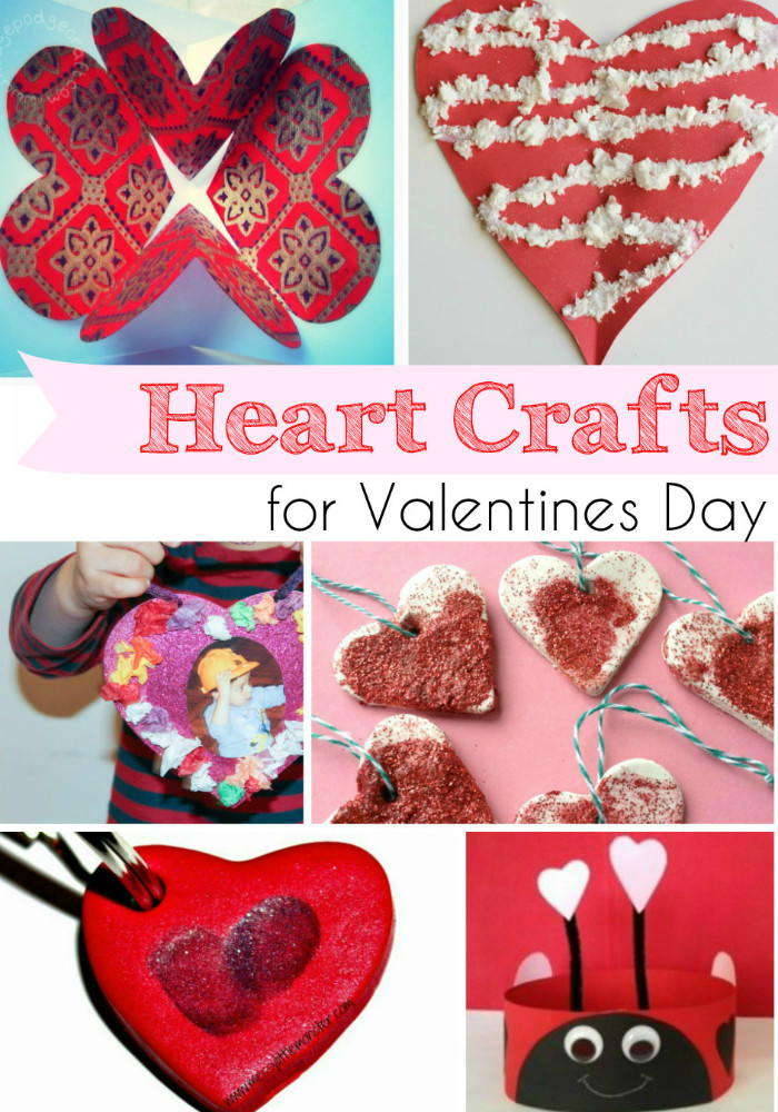 Heart Crafts for Valentines Day and Tuesday Tutorials