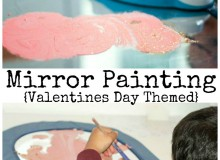 Valentines Mirror Painting