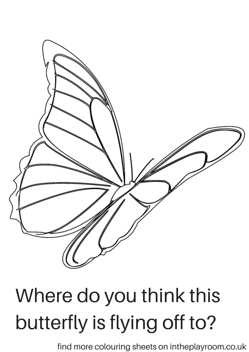 Free Printable Butterfly Colouring Pages - In The Playroom