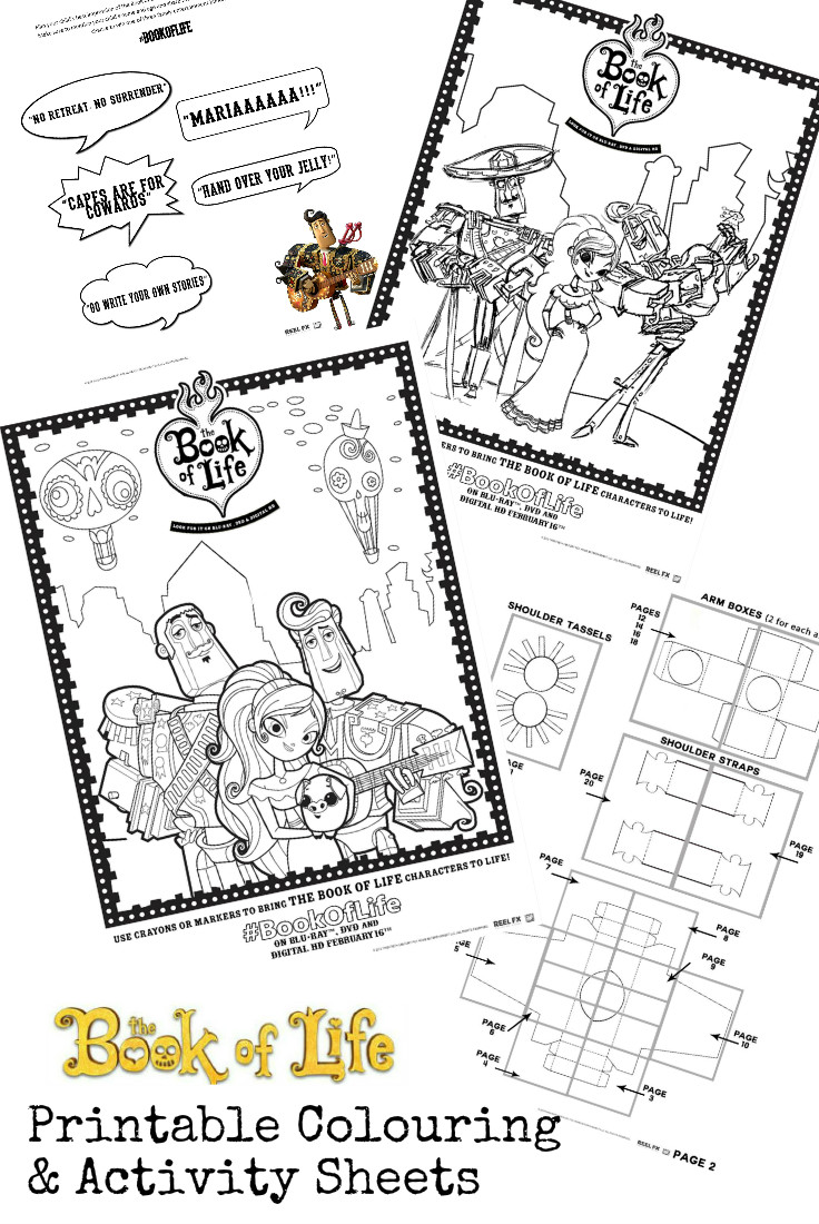 Book of life for coloring - Book Of Life Printables And Twitter Viewing Party Bookoflifebluray In The Playroom