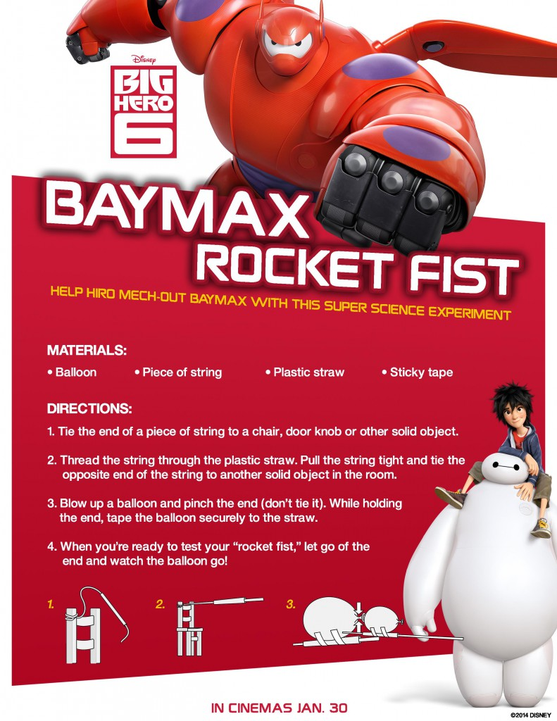 Big Hero 6 Science Experiment : Baymax Rocket Fist