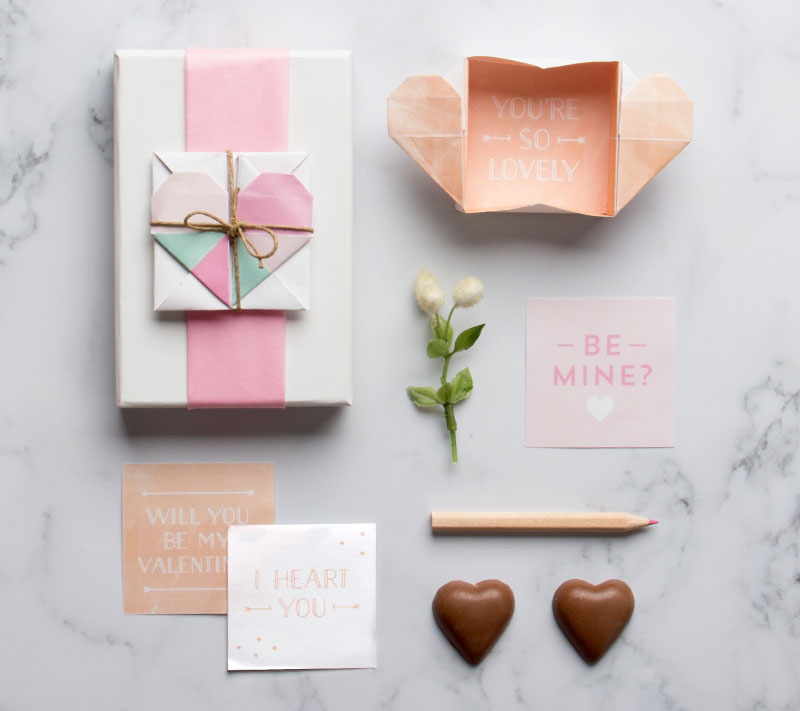 how to make a heart box origami