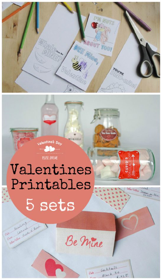 Valentines Day Printables : Gift Tags, Cake Toppers, Labels and more!