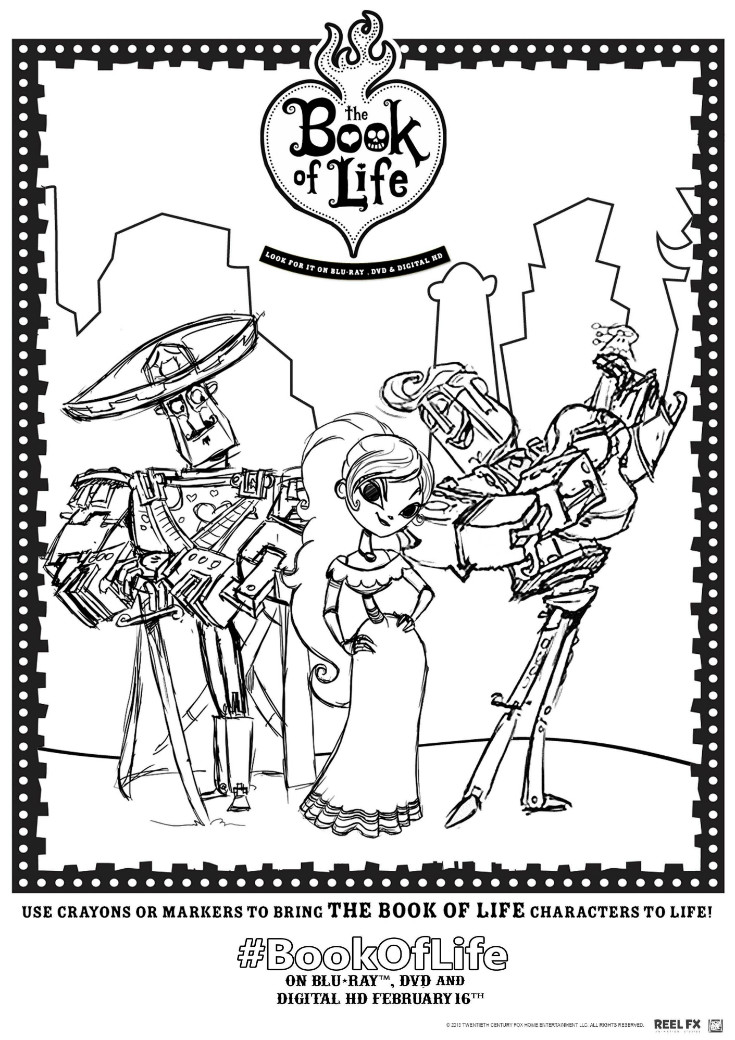 Book of Life Printables and Twitter