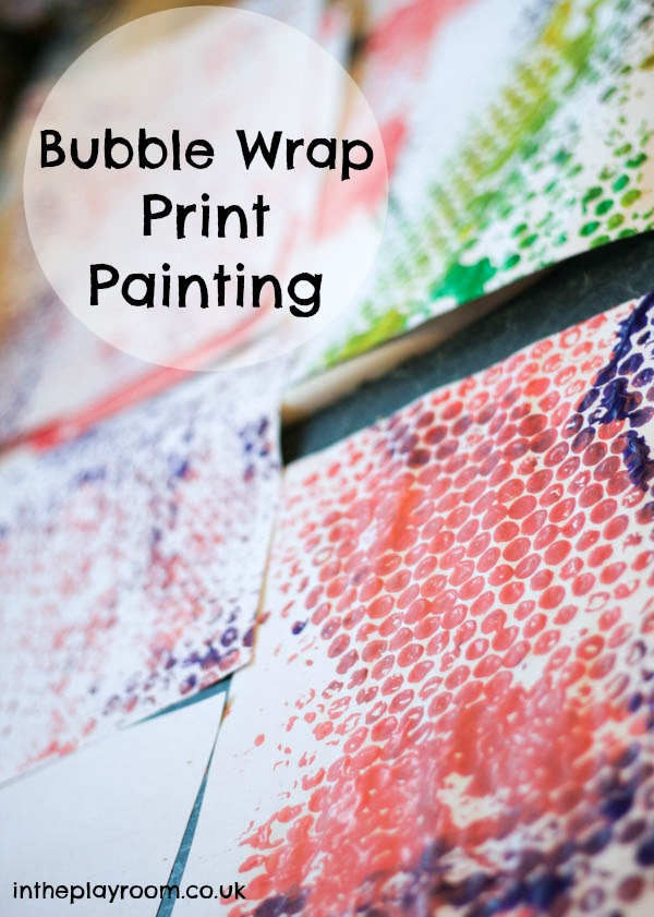 Bubble Wrap Print Painting In The Playroom