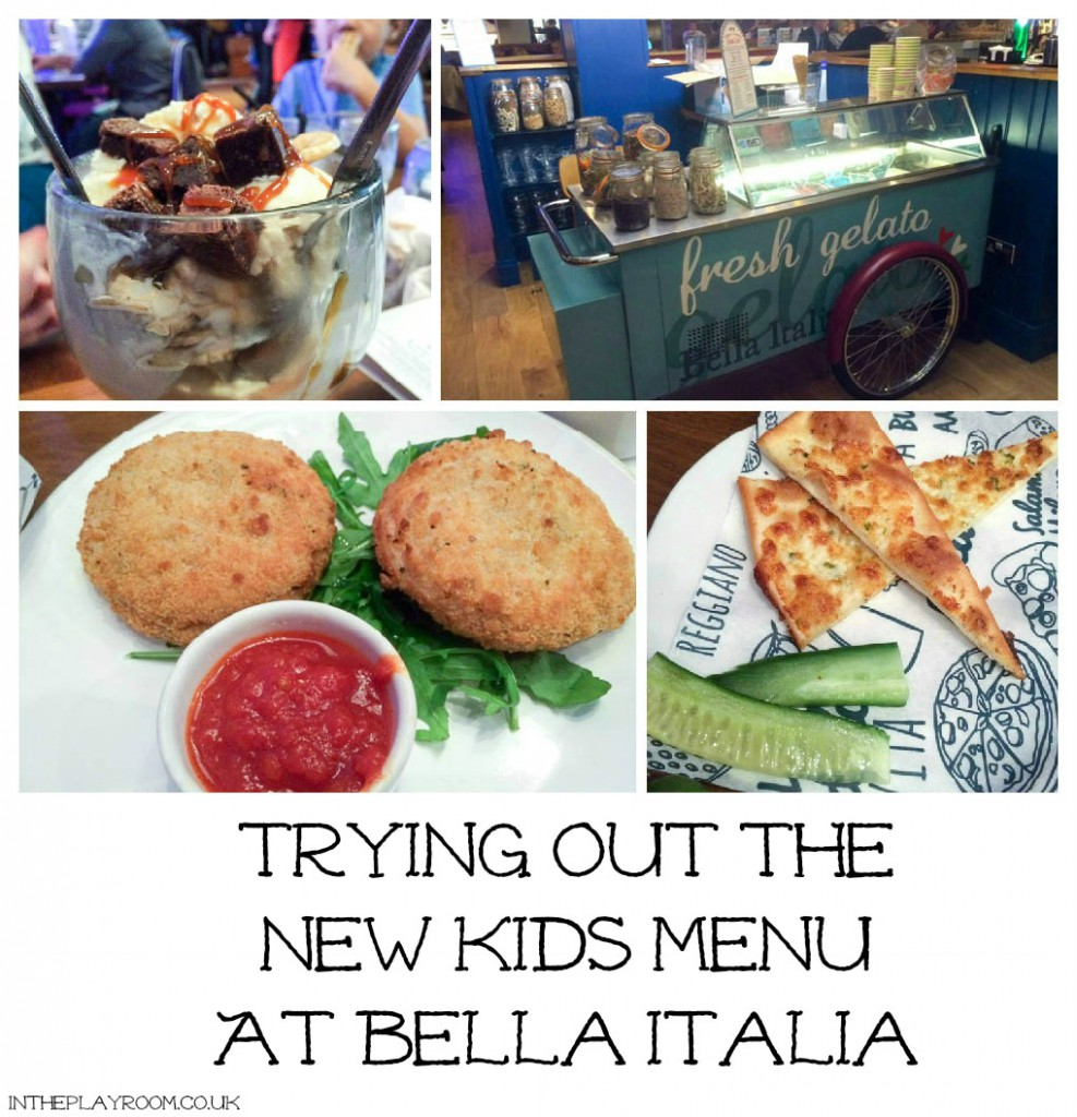 Trying out the New Kids Menu at Bella Italia