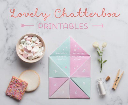 Valentines Chatterbox Printable