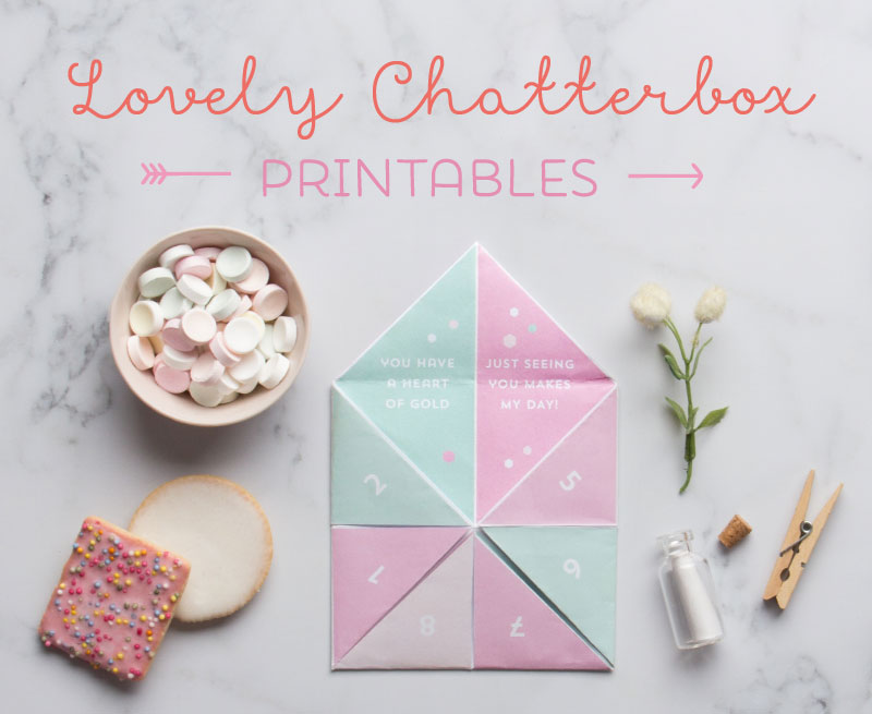 Valentines Chatterbox Printable