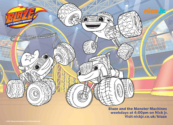 Blaze and the monster machines colouring pages and twitter for Blaze and the monster machine coloring pages