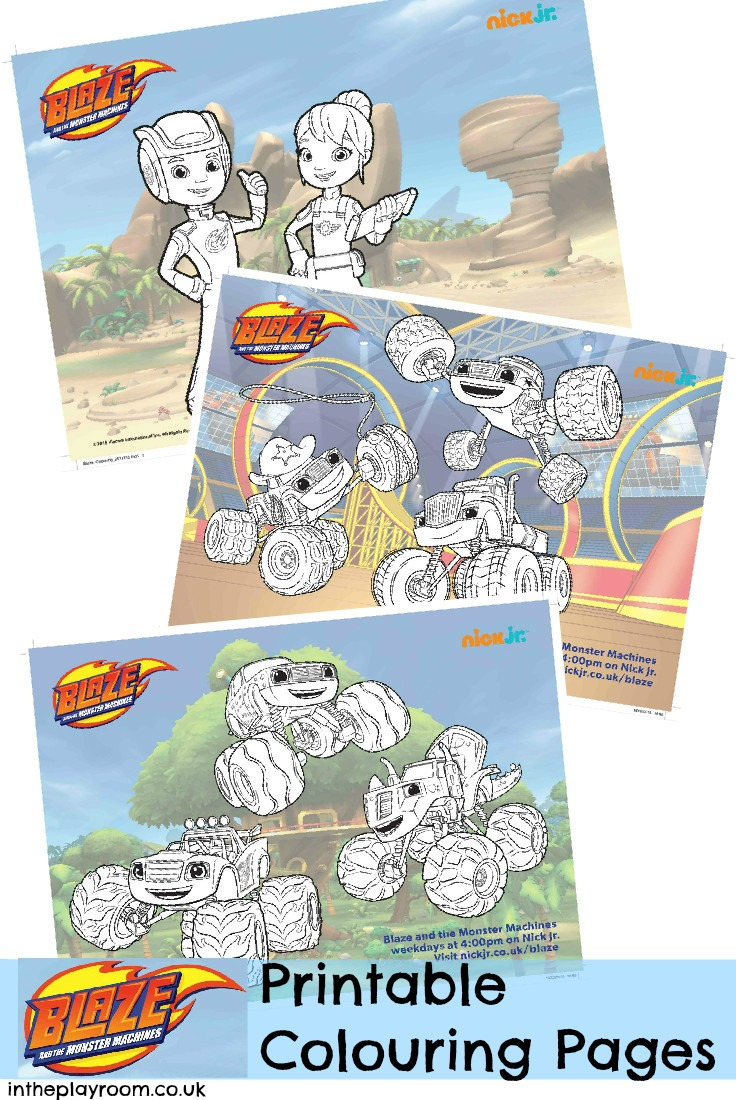 Free printable coloring pages uk - Blaze And The Monster Machines Colouring Pages And Twitter Party In The Playroom