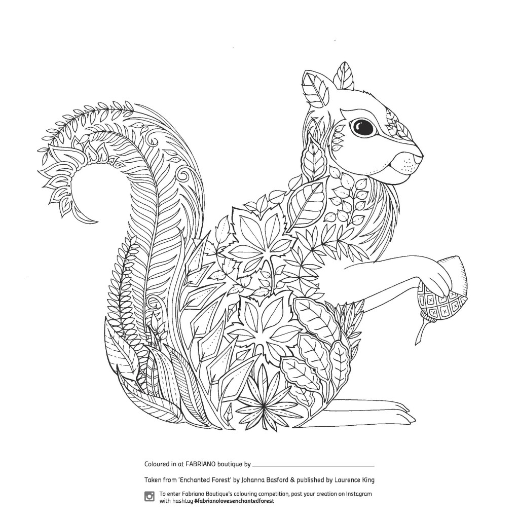 Collouring: Enchanted Forest Colouring Competition At Fabriano