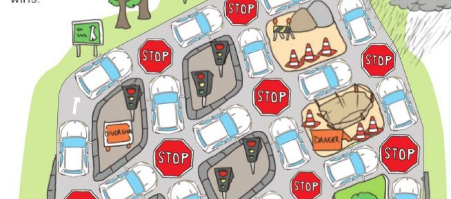 UK - traffic jam game