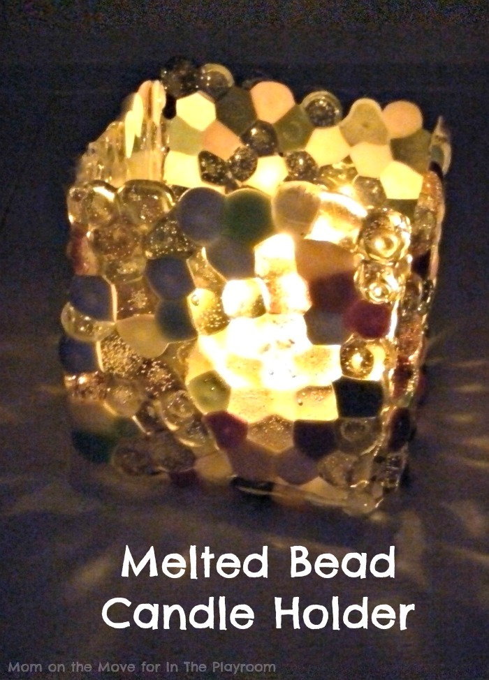 Melted Bead Candle Holder In The Playroom