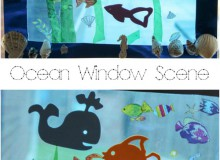 Ocean Scene Window Art for Kids