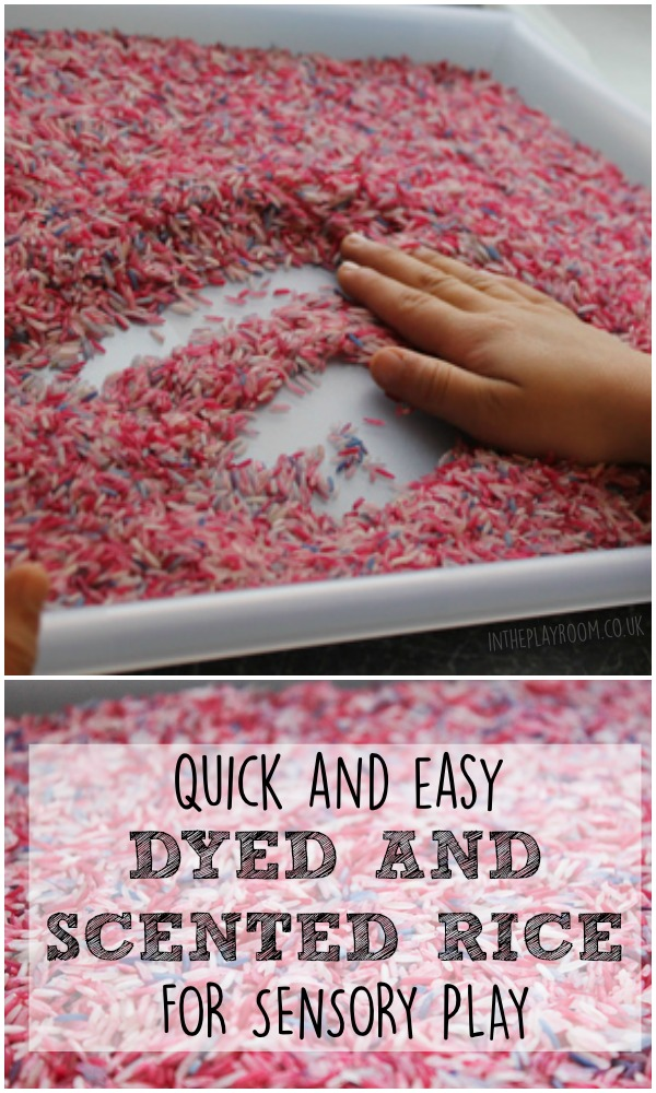 Quick And Easy Dyed And Scented Rice For Sensory Play In