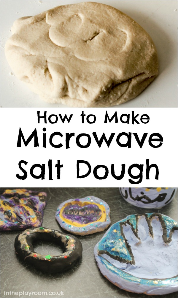 How To Make Sour Dough Christmas Decorations : Microwave salt dough in the playroom