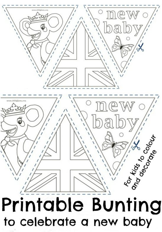 Printable Bunting to Celebrate a New Baby