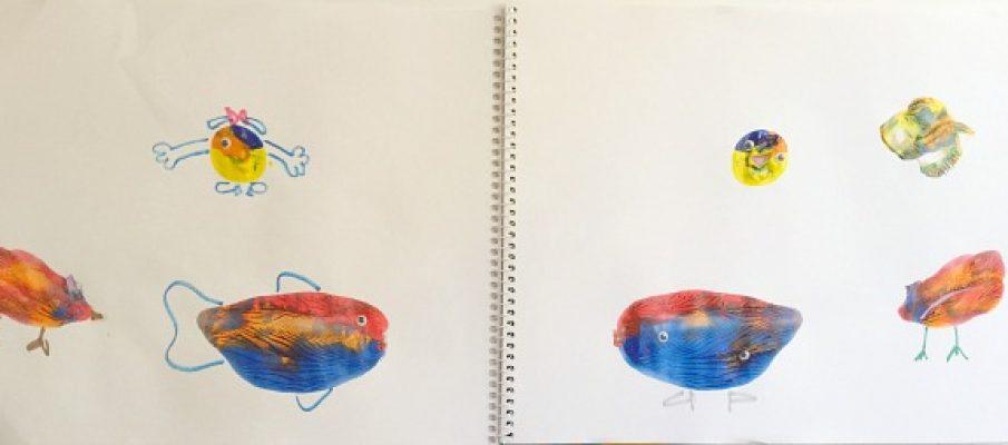 splat painting creatures doodling 2