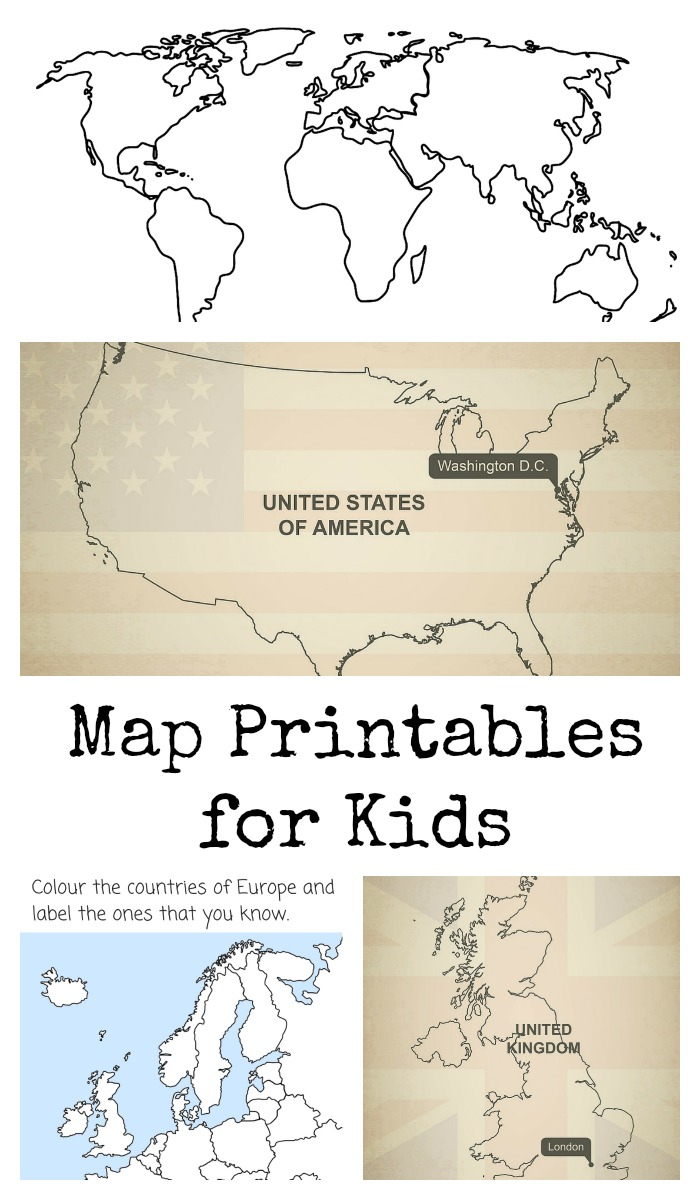 A-Z of Raising Global Citizens: Map Printables