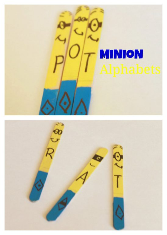 Minion Alphabet Sticks