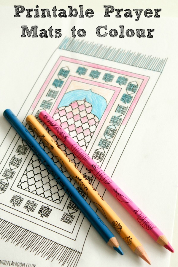Prayer Mat Colouring Page for Kids