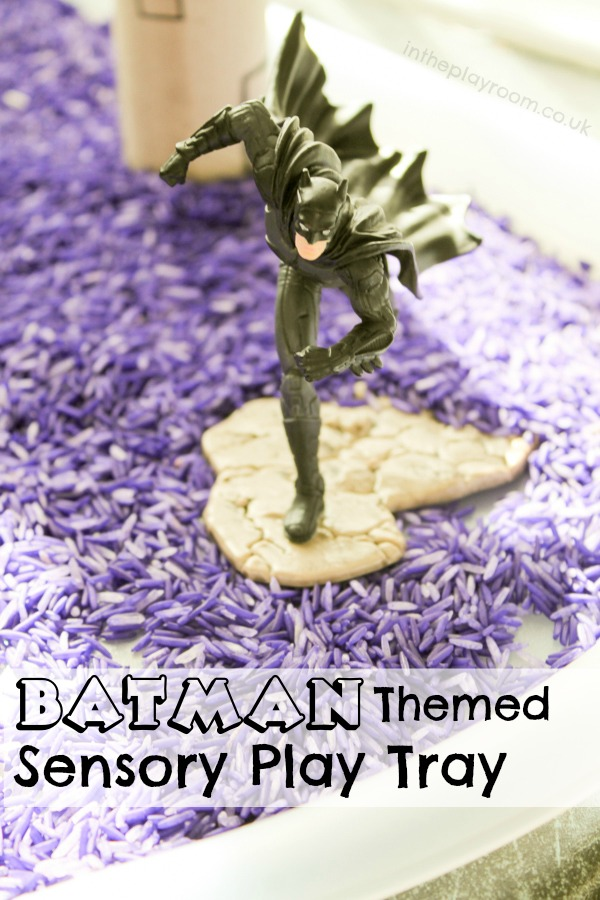 Batman Sensory Play with Schleich DC Comics Figures