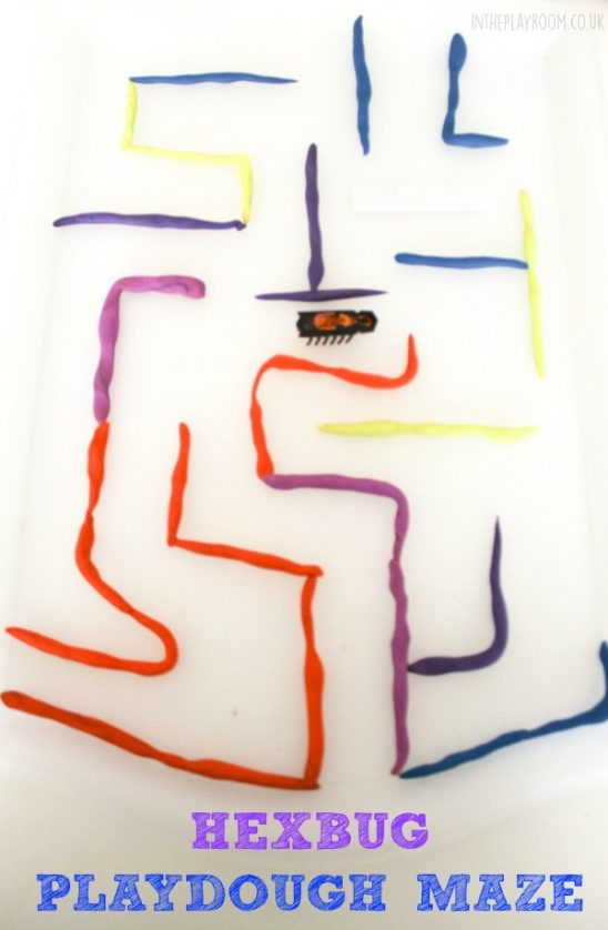 Hexbug Mazes with Playdough
