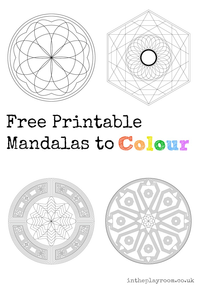 Free Printable Mandalas to Colour