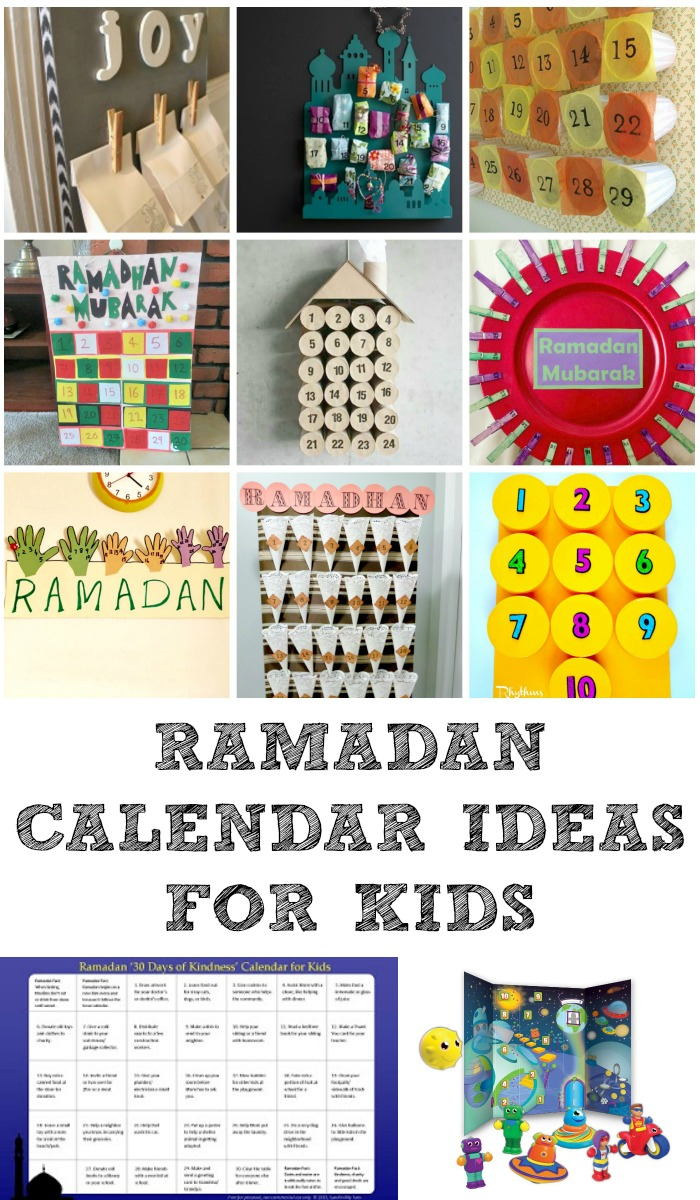 Calendar Ideas For Kids To Make : Ramadan decorations and calendars in the playroom