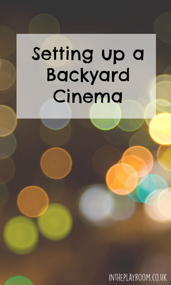 Setting up a Backyard Cinema, with Dreamworks Home