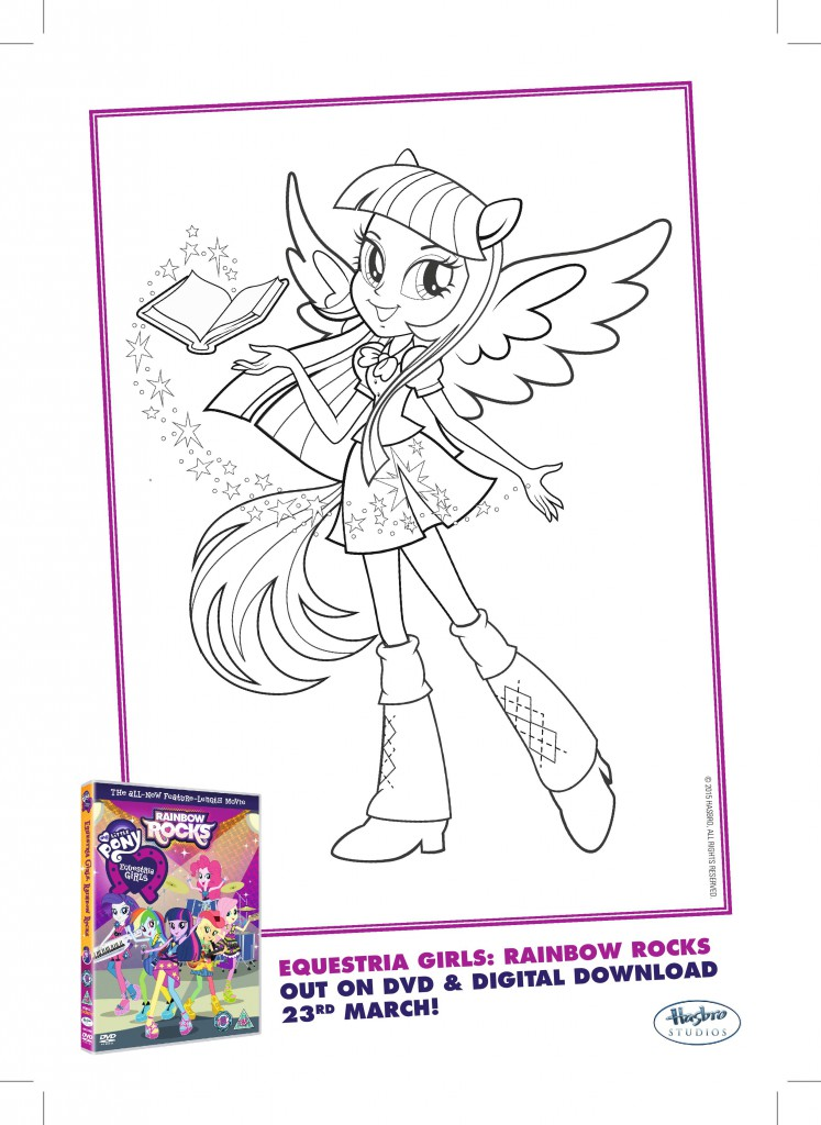 My Little Pony Equestria Girls Colouring Pages In The