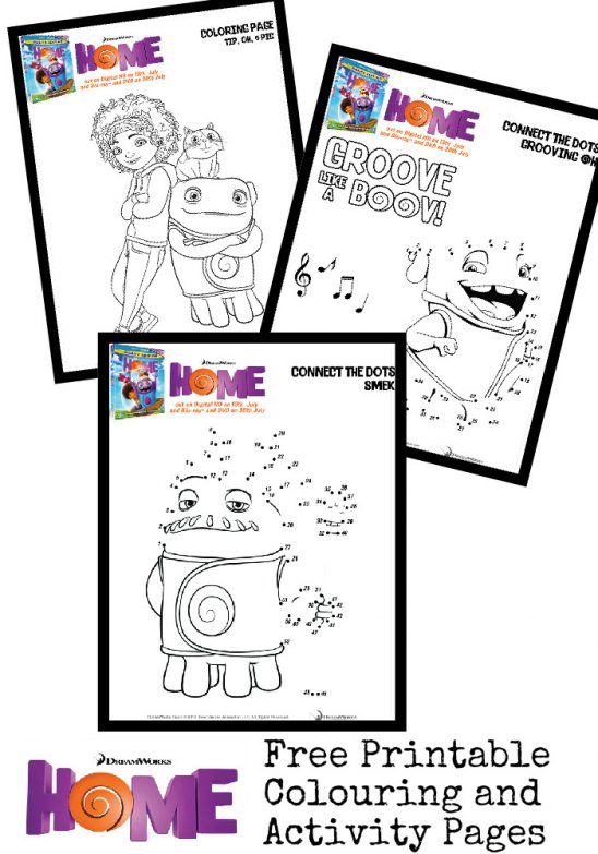 Home Printables: Activity Sheets and Colouring Pages
