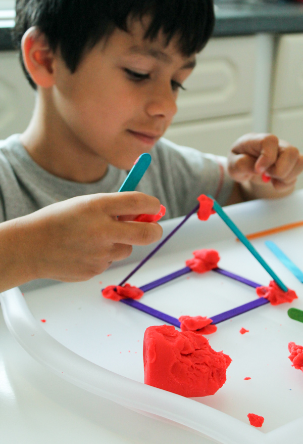 Building 2d Amp 3d Shapes With Craft Sticks In The Playroom