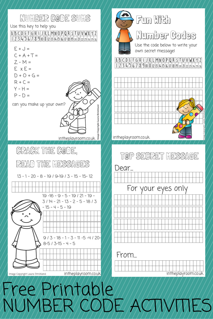 Number Codes Activity with Free Printables