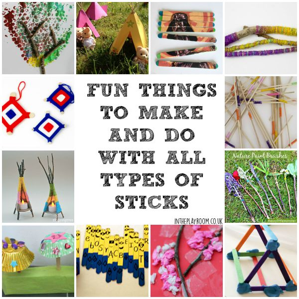 12 Fun Things To Make And Do With Sticks