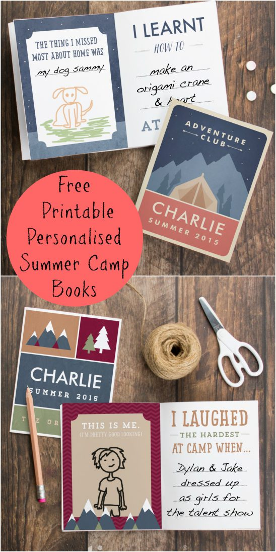 Personalised Summer Camp Book Printables