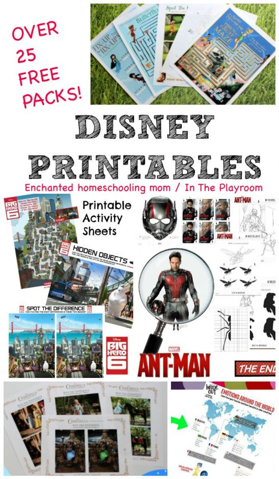25+ Awesome Free Disney Printable Packs