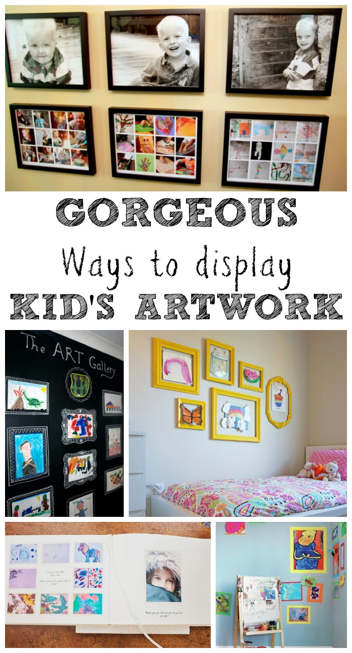 Gorgeous Ways To Display Kids Art Work In The Playroom