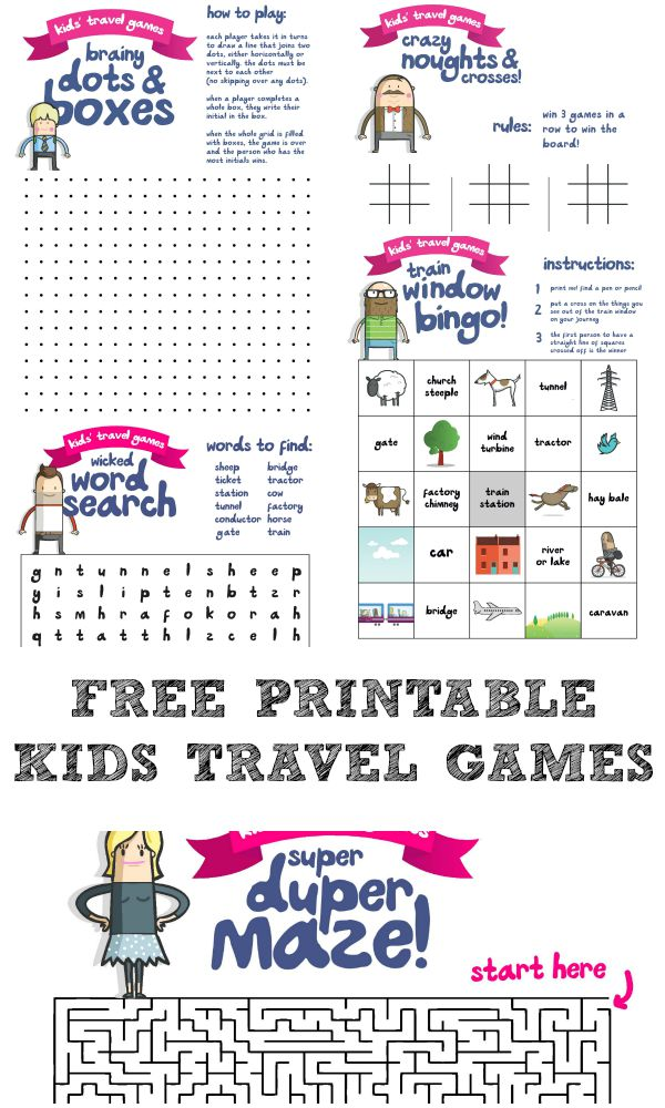 This is an image of Punchy Travel Games Printables