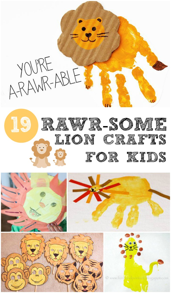 19 rawr some lion crafts for kids in the playroom for Lion crafts for toddlers