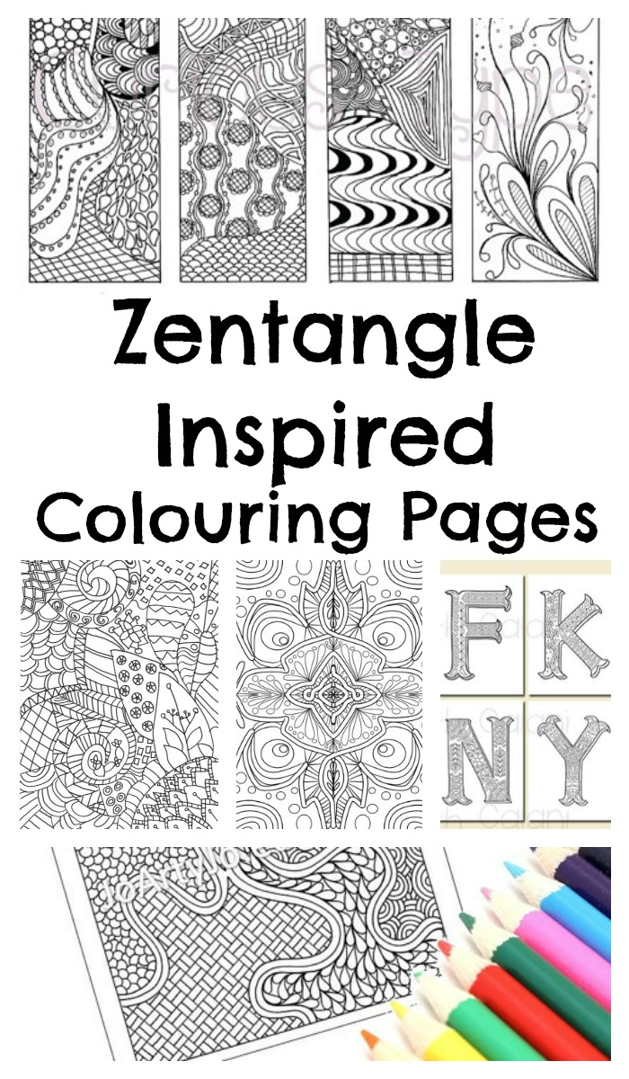 Handy image intended for free printable zentangle worksheets