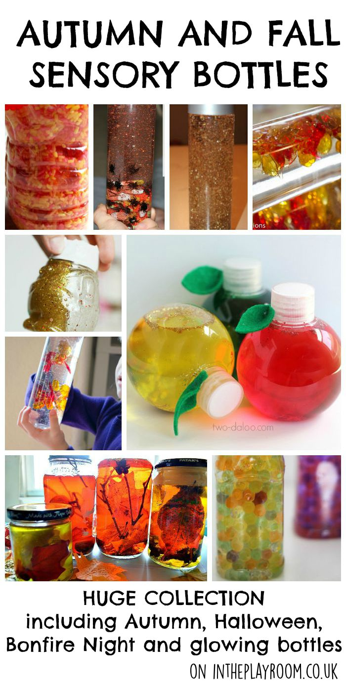 Autumn and Fall Sensory Bottles