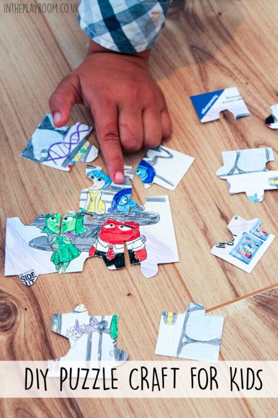 DIY Puzzle Craft for Kids and the Ravensburger Twitter Party