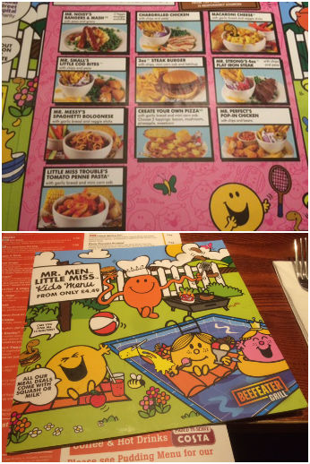 Beefeater Children's Menus