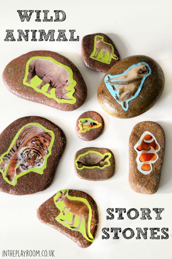 Wild Animal Story Stones